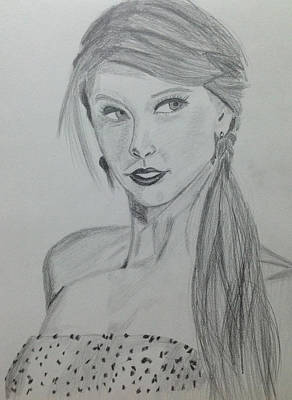 Taylor Swift Drawing - Taylor Swift by Bilal Zakir