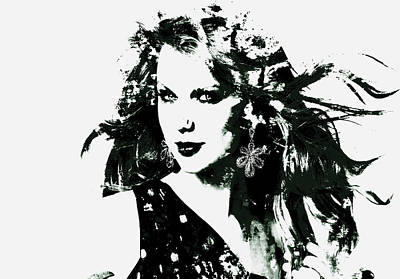 Taylor Swift Painting - Taylor Swift Enchanted by Brian Reaves