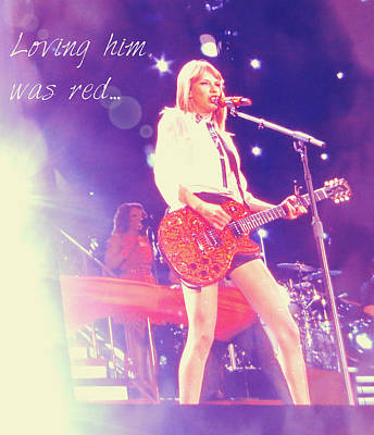 Taylor Swift Photograph - Taylor Swift Performing by Kasey Zadakis