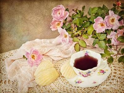 Tea And Cookies Print by Cheryl Davis