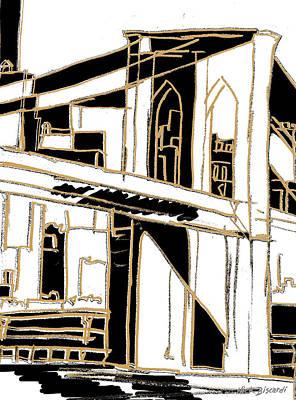 Tenement Brooklyn Print by Nicholas Biscardi