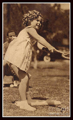 Shirley Temple Digital Art - Tennis With Shirley Temple  by Pierpont Bay Archives