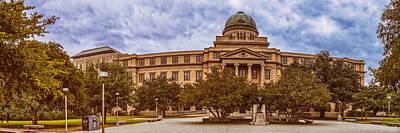 Texas A And M Academic Plaza - College Station Texas Print by Silvio Ligutti