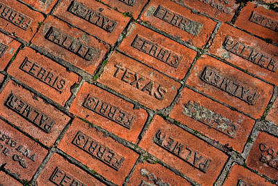 Brick Photograph - Texas Red Brick  by Jeanne May