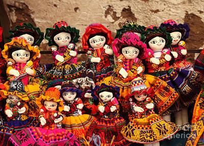 Textile Dolls Print by James Brunker
