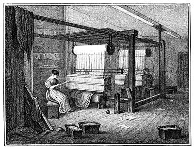 Handloom Painting - Textile Manufacture, 1840 by Granger