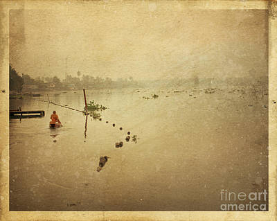 Postcard Photograph - Thai River Life by Setsiri Silapasuwanchai