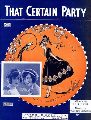 That Certain Party Print by Mel Thompson
