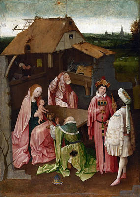 Adoration Magi Painting - The Adoration Of The Magi by Hieronymus Bosch