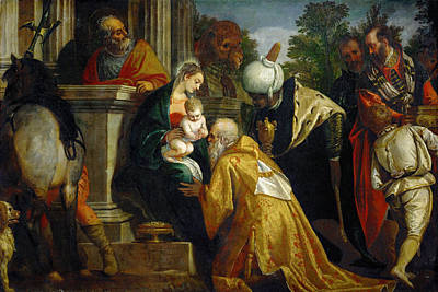 Adoration Magi Painting - The Adoration Of The Magi by Paolo Veronese