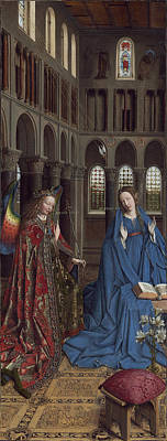 Netherlands Painting - The Annunciation by Jan van Eyck