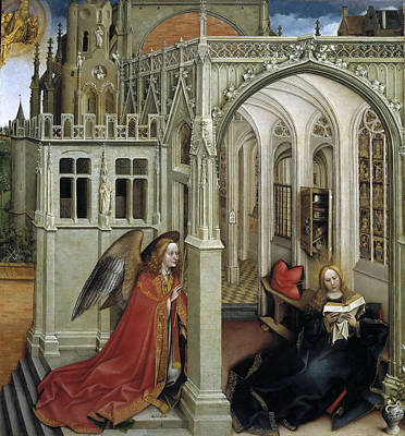 Robert Campin Painting - The Annunciation by Robert Campin