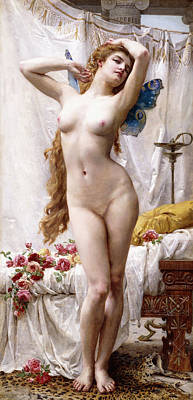 Psyche Painting - The Awakening Of Psyche by Guillaume Seignac