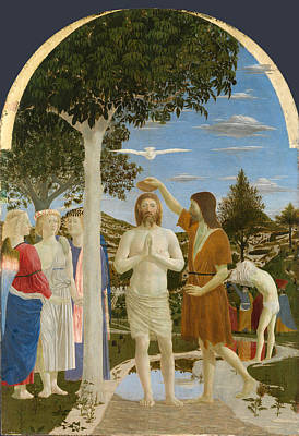 Baptism Of Christ Painting - The Baptism Of Christ by Piero della Francesca