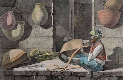 Matting Drawing - The Basket Maker, From Volume II Arts by Nicolas Jacques Conte