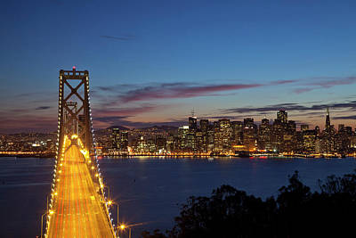 The Bay Bridge From Treasure Island Print by Chuck Haney