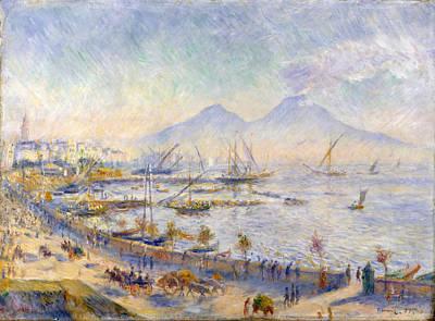 Pierre-auguste Renoir Painting - The Bay Of Naples by Pierre-Auguste Renoir