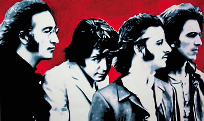 Cavern Painting - The Beatles by Luis Ludzska