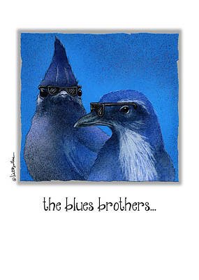 Blue Jay Painting - The Blues Brothers... by Will Bullas
