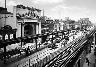 Bowery Photograph - The Bowery 1900 - New York City by Mountain Dreams