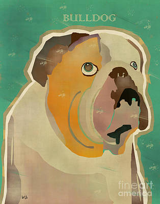 Bulldog Art Digital Art - The Bulldog by Bri B