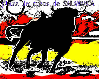 Sun Drawing - The Bullfight  by Paul Sutcliffe