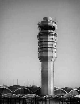 The Control Tower At Ronald Reagan National Airport Print by Mountain Dreams