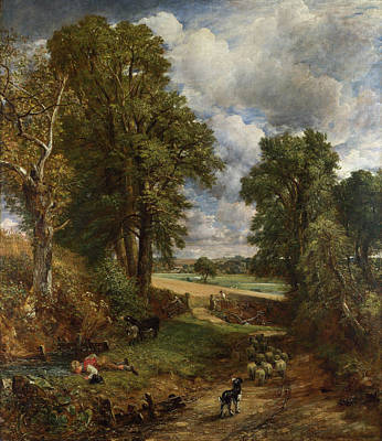 Cornfield Painting - The Cornfield by John Constable