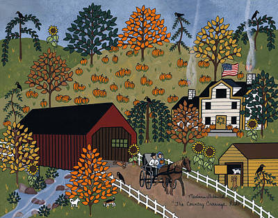 The Country Carriage Ride Print by Medana Gabbard