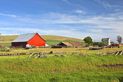 The Country Farm Eastern Washington State. Print by Gino Rigucci