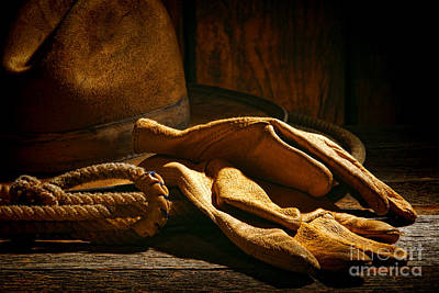 The Cowboy Gloves Print by Olivier Le Queinec