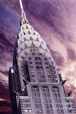 Nyc Mixed Media - The Crysler Building by Jon Neidert