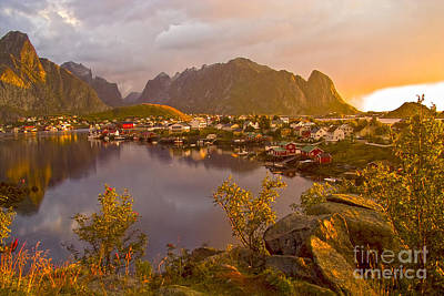 The Day Begins In Reine Print by Heiko Koehrer-Wagner