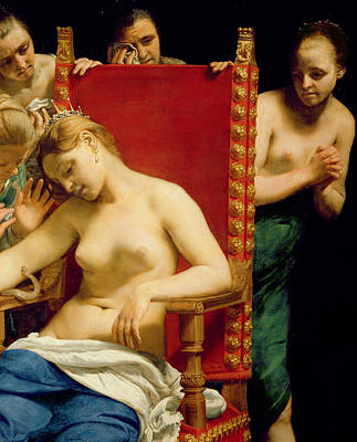Crying Painting - The Death Of Cleopatra  by Guido Cagnacci