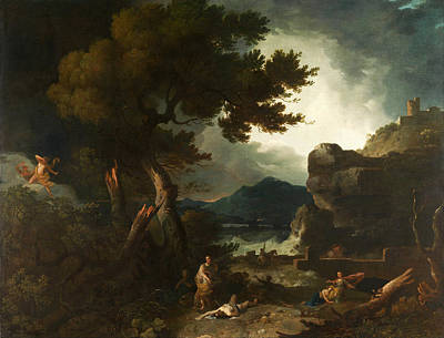 The Destruction Of Niobes Children Print by Richard Wilson