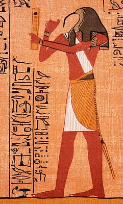 Scribes Photograph - The Egyptian Deity Thoth by Sheila Terry