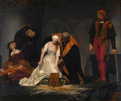 The Execution Of Lady Jane Grey Print by Celestial Images