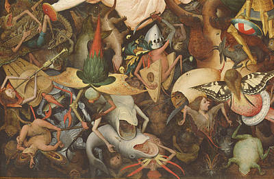 Monster Photograph - The Fall Of The Rebel Angels, 1562 Oil On Panel Detail Of 74037 by Pieter the Elder Bruegel