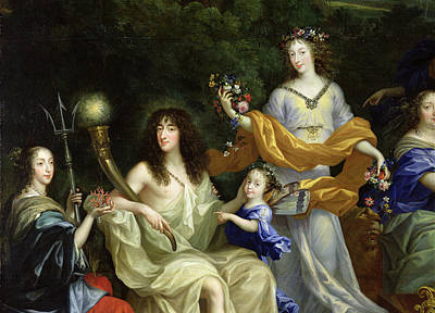 Lumiere Photograph - The Family Of Louis Xiv 1638-1715 1670 Oil On Canvas Detail Of 60094 by Jean Nocret