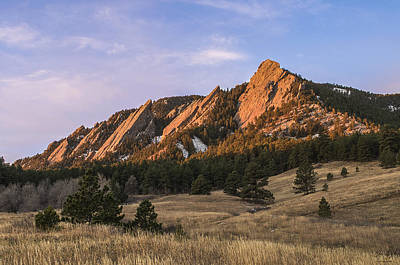 Crag Photograph - The Flatirons by Aaron Spong