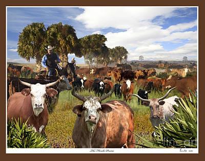 Palmettos Painting - The Florida Prairie by Victor Milt