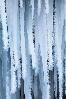 Bizarre Photograph - The Frozen Schleierfaelle (veil Falls by Martin Zwick