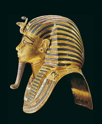 The Gold Mask. Ca. 1340 Bc. Gold Mask Print by Everett
