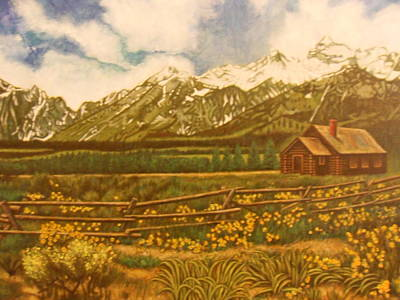 The Grand Tetons Original by James Welch
