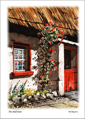 The Half Door Print by Val Byrne