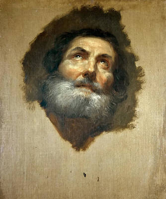 Anton Raphael Mengs Painting - The Head Of An Apostle by Anton Raphael Mengs