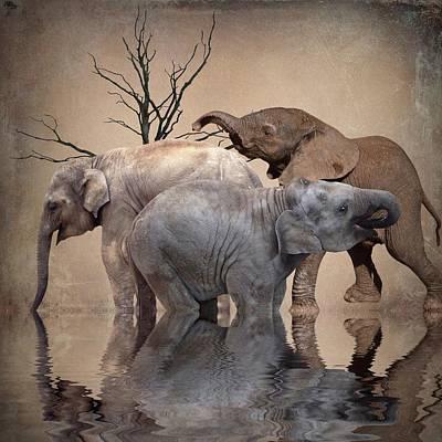 The Herd Print by Sharon Lisa Clarke