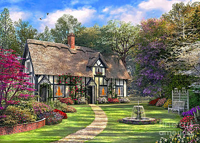 The Hideaway Cottage Print by Dominic Davison