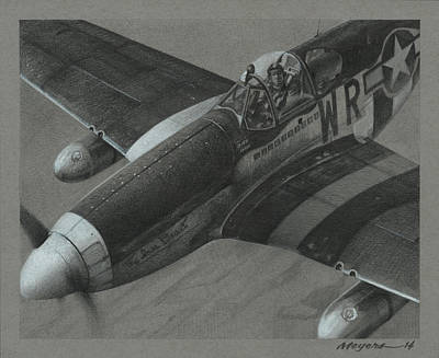Pilot Drawing - The Iowa Beaut by Wade Meyers