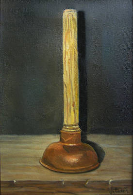 Donna Tucker Painting - The Lone Plunger by Donna Tucker